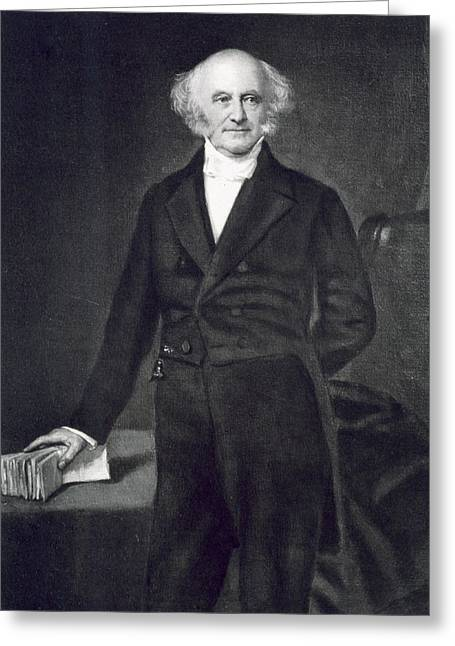 Photogravure Greeting Cards - Martin Van Buren Greeting Card by George Healy