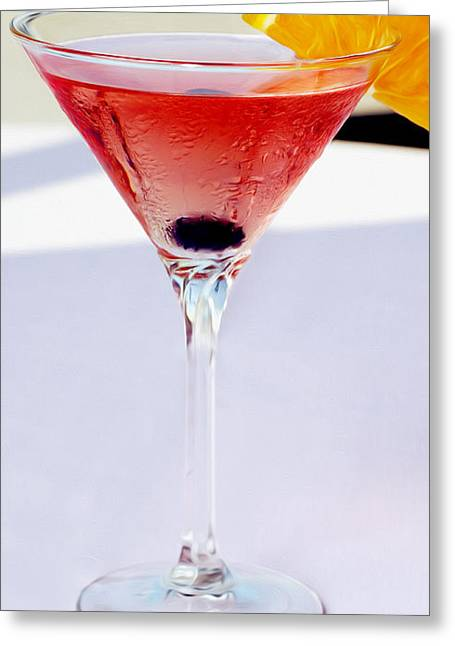 Mixed Drink Greeting Cards - Martini at the Beach Greeting Card by Jon Neidert