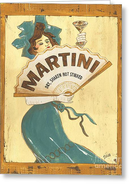 Shot Glass Greeting Cards - Martini dry Greeting Card by Debbie DeWitt