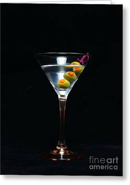 Martini Greeting Card by Paul Ward
