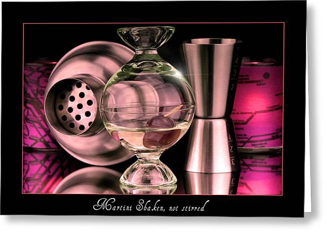 Stir Greeting Cards - Martini Greeting Card by Toppart Sweden