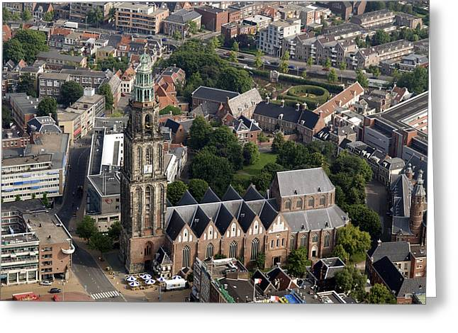 Center City Greeting Cards - Martinitoren, Groningen Greeting Card by Bram van de Biezen