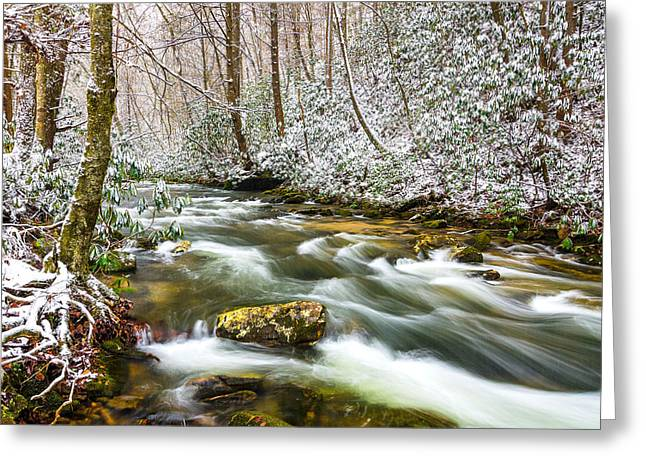 Martin County Greeting Cards - Martins Fork winter Greeting Card by Anthony Heflin