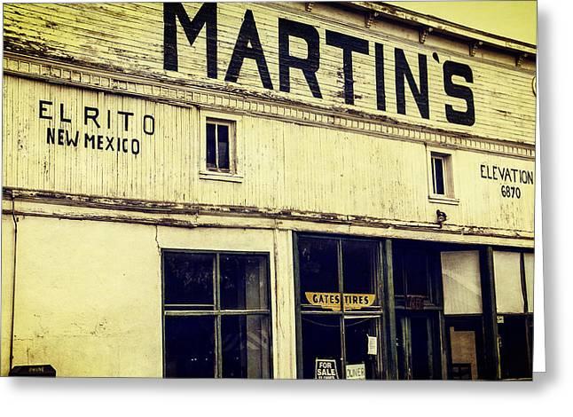 Taos Ski Village Greeting Cards - Martins General Store Greeting Card by Steven Bateson