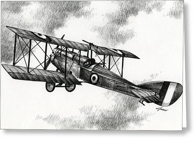 Martinsyde G 100 Greeting Card by James Williamson