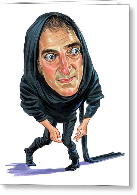 Great Paintings Greeting Cards - Marty Feldman as Igor Greeting Card by Art