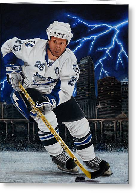 Nhl Paintings Greeting Cards - Marty Greeting Card by Marlon Huynh