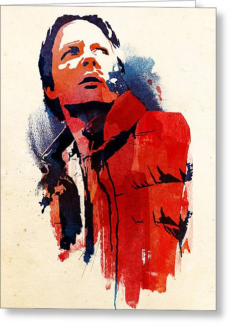 Marty Mcfly Greeting Card by Robert Farkas