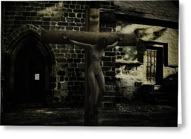 Martyrs Digital Art Greeting Cards - Martyr of the Church Greeting Card by Ramon Martinez