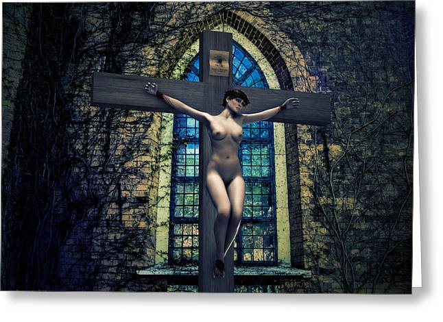 Martyrs Digital Art Greeting Cards - Martyr of the Curch II Greeting Card by Ramon Martinez