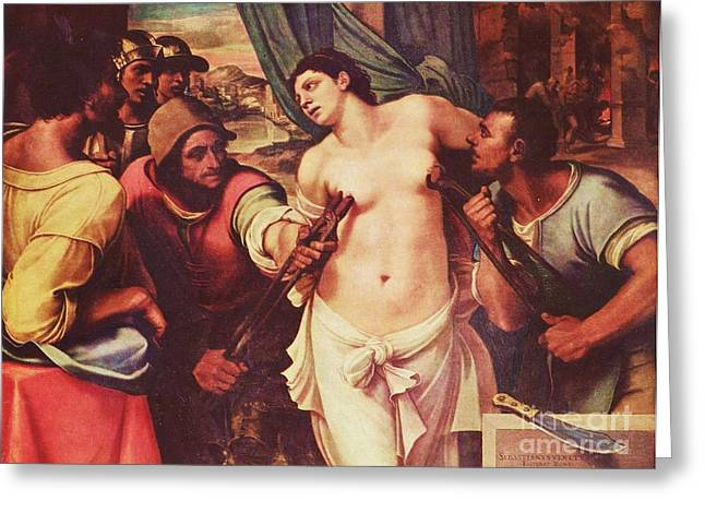 251 Greeting Cards - Martyrdom of St Agatha Greeting Card by Pg Reproductions