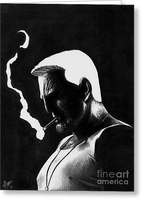 Frank Miller Greeting Cards - Marv Greeting Card by Wave