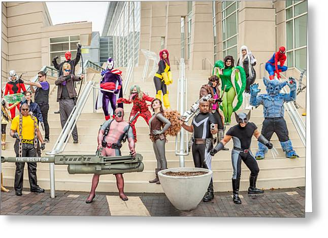 Cosplayers Photographs Greeting Cards - Marvel Universe C2E2 2013 Greeting Card by Andreas Schneider