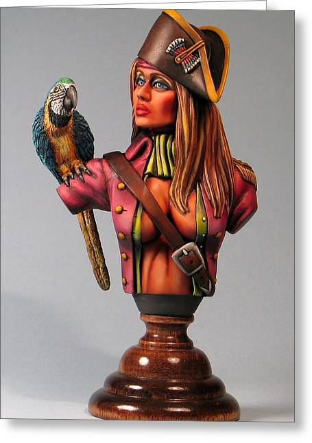 Pirates Sculptures Greeting Cards - Marvella Greeting Card by Janine Bennett