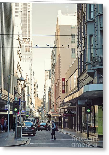Lindaleesart Greeting Cards - Marvellous Melbourne 2 Greeting Card by Linda Lees