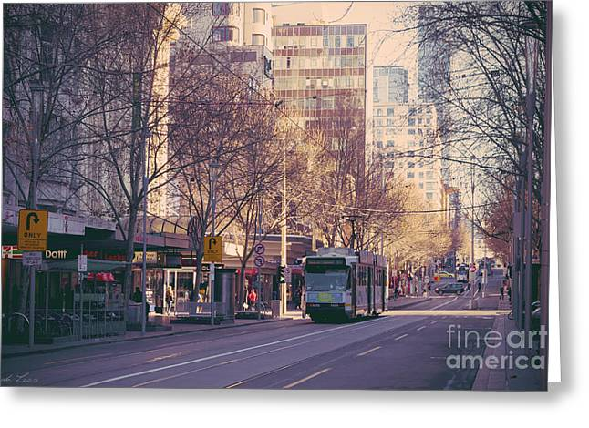 Lindaleesart Greeting Cards - Marvellous Melbourne 7 Greeting Card by Linda Lees