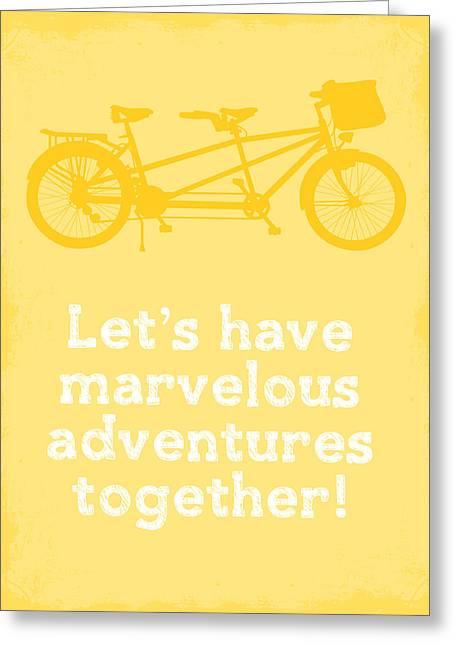 Tandem Bicycle Greeting Cards - Marvelous Adventures Greeting Card by Nancy Ingersoll