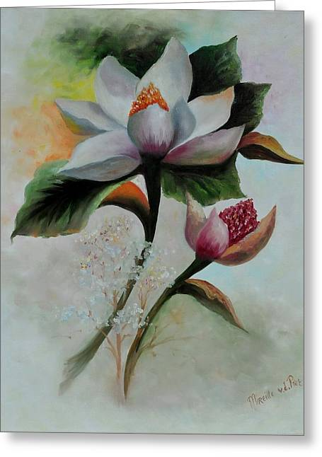 Natuur Greeting Cards - Marvelous Magnolia Greeting Card by Mirel Van de Riet