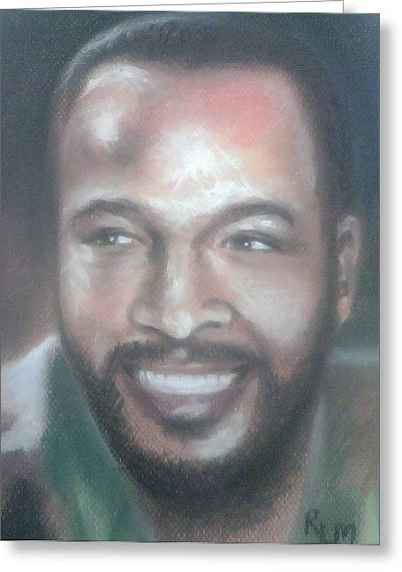 Celebrity Pastels Greeting Cards - Marvin Gaye Greeting Card by Ronnie Melvin