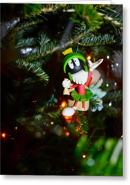 Cartton Greeting Cards - Marvin the Martian Greeting Card by Brynn Ditsche