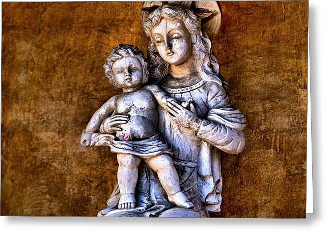 Mary And Jesus Greeting Card by Scott Hill