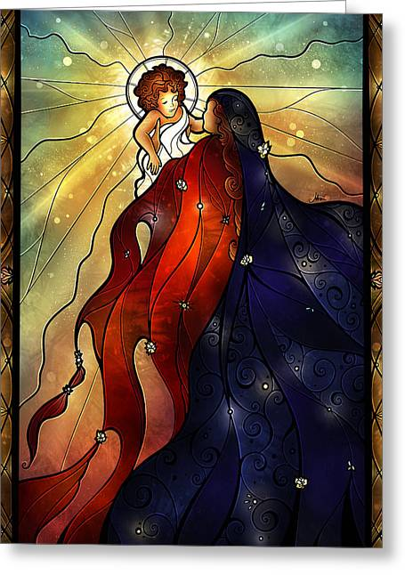 Mother Mary Digital Art Greeting Cards - Mary Did You Know Greeting Card by Mandie Manzano