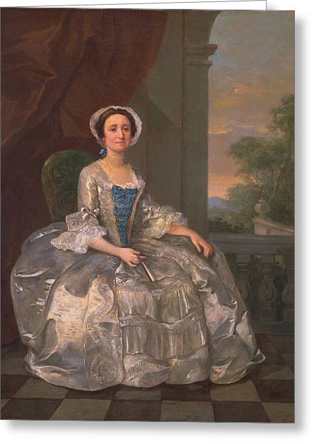 Crinoline Greeting Cards - Mary Hoadly, C.1742 Greeting Card by William Hogarth