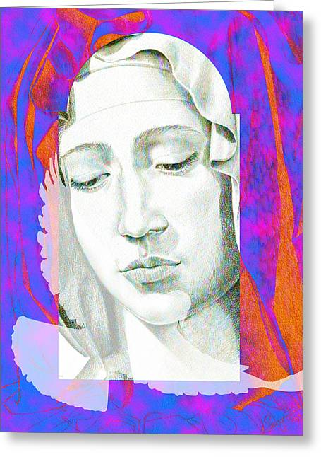Michelangelo Greeting Cards - Mary IV Greeting Card by Savyra Meyer-Lippold
