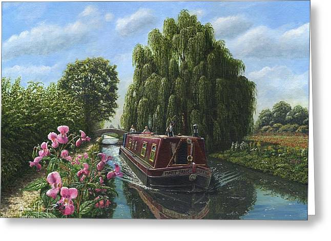 Himalayan Greeting Cards - Mary Jane Chesterfield Canal Nottinghamshire Greeting Card by Richard Harpum