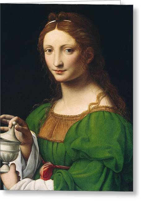Historical Buildings Greeting Cards - Mary Magdalene Greeting Card by Celestial Images