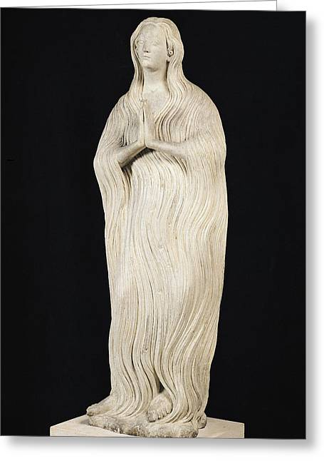 Madeleine Greeting Cards - Mary Magdalene, C.1310 Stone Greeting Card by French School