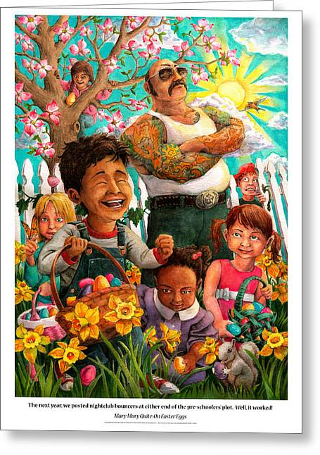 Humor Greeting Cards - Mary Mary Quite On Easter Eggs Greeting Card by David Condry