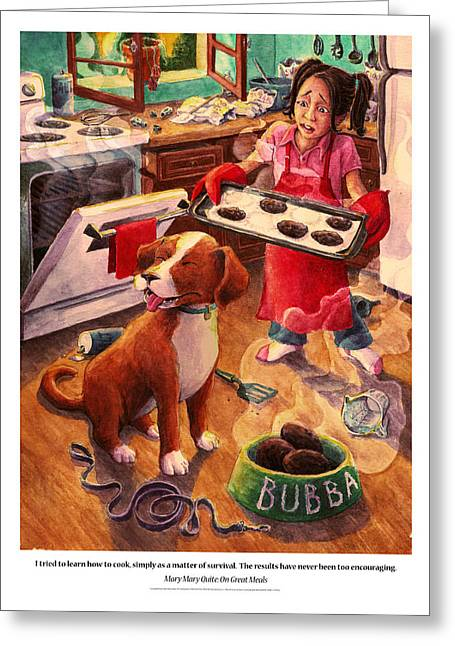 Mistake Greeting Cards - Mary Mary Quite On Great Meals Greeting Card by David Condry