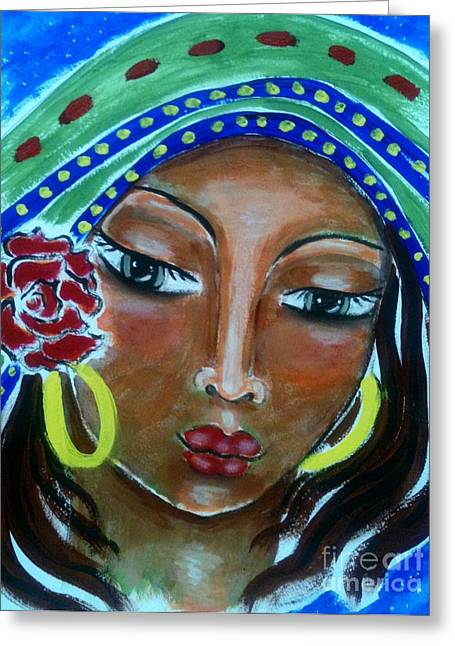 The Sacred Feminine Greeting Cards - Mary of Magdala Greeting Card by Maya Telford