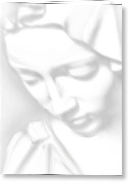 Christ Child Mixed Media Greeting Cards - Mary Pieta Greeting Card by Tony Rubino
