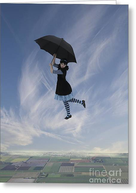 Linda Lees Greeting Cards - Mary Poppins Greeting Card by Linda Lees