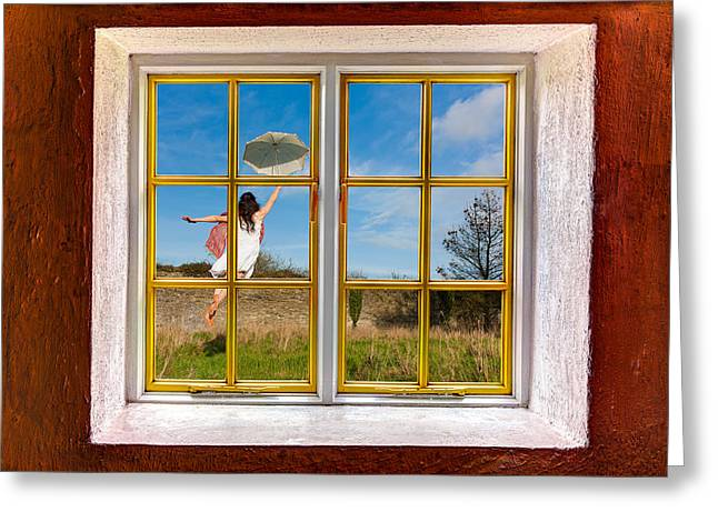 Levitation Photographs Greeting Cards - Mary Poppins Greeting Card by Semmick Photo
