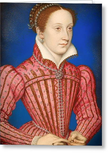 Queen Mary Paintings Greeting Cards - Mary -  Queen of Scots Greeting Card by Francois Clouet