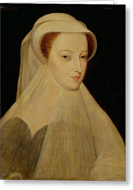 Veiled Greeting Cards - Mary, Queen Of Scots In White Mourning Oil On Panel Greeting Card by Francois Clouet
