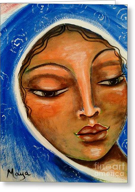 The Sacred Feminine Greeting Cards - Mary Salome Greeting Card by Maya Telford