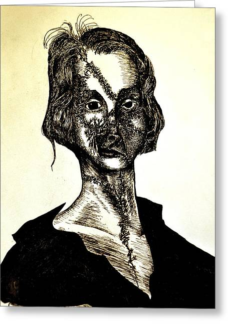 Mary Shelley Greeting Cards - Mary Shelley Greeting Card by Will  Carlson