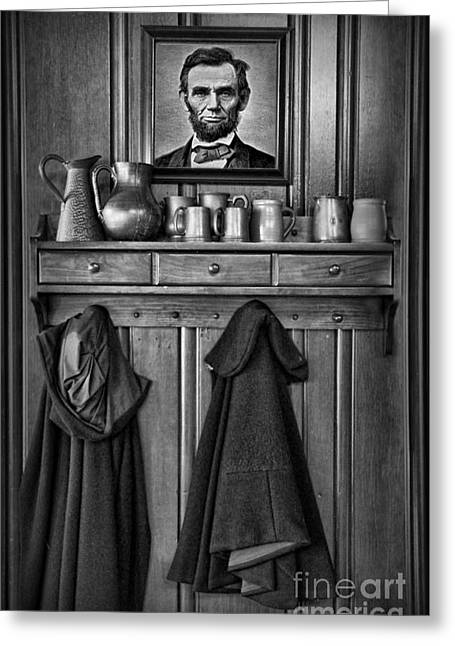 Mary Todd Lincoln Greeting Cards - Mary Todd Lincolns Coat Rack Greeting Card by Lee Dos Santos