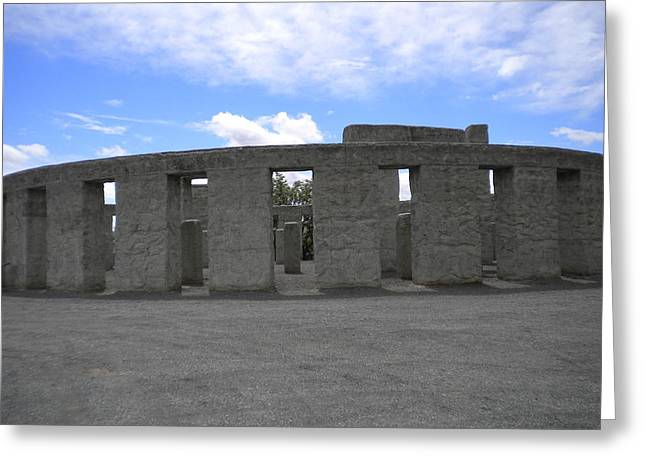 Wwi Greeting Cards - Maryhill Stonehenge 002 Greeting Card by Ron Schreiner