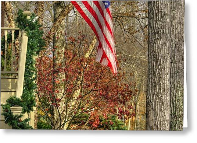 Maryland Country Roads - Flying the Colors 1A Greeting Card by Michael Mazaika