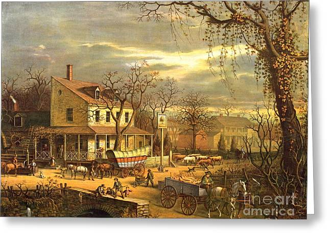 Maryland Crossroads Inn 1872 Greeting Card by Padre Art