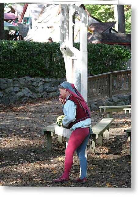 Maryland Renaissance Festival - A Fool Named O - 12121 Greeting Card by DC Photographer