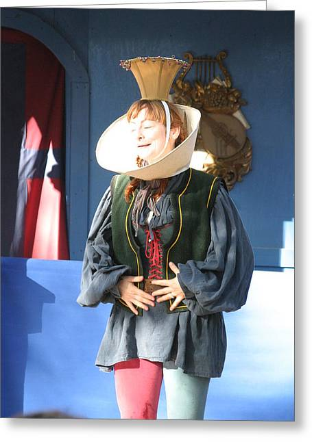 Maryland Renaissance Festival - A Fool Named O - 121211 Greeting Card by DC Photographer