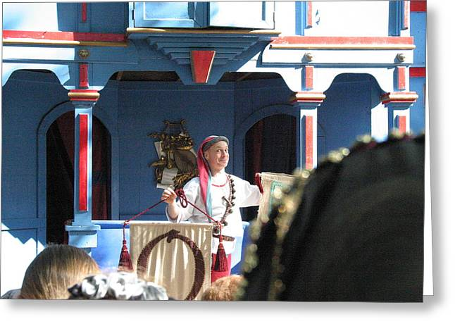 Rennfest Greeting Cards - Maryland Renaissance Festival - A Fool Named O - 121224 Greeting Card by DC Photographer