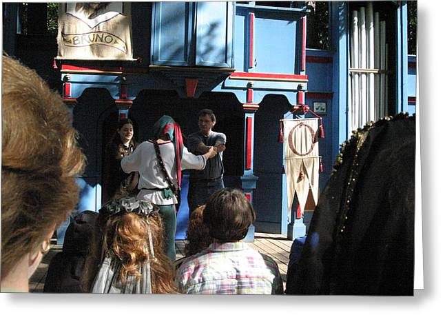 Dress Greeting Cards - Maryland Renaissance Festival - A Fool Named O - 121228 Greeting Card by DC Photographer