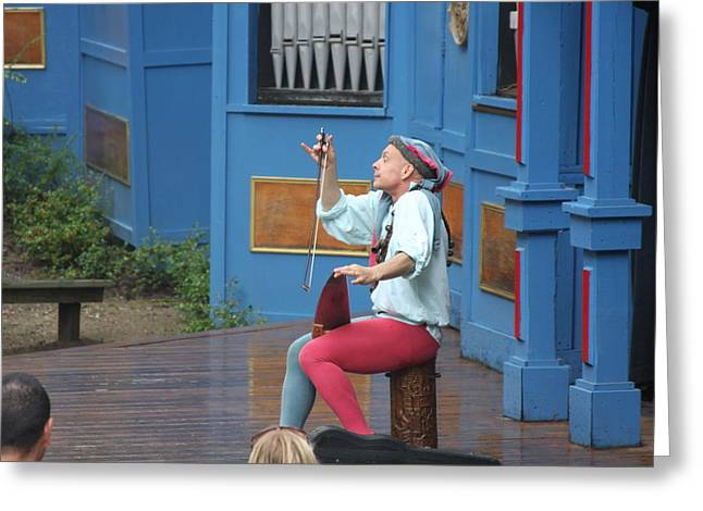 Maryland Renaissance Festival - A Fool Named O - 121232 Greeting Card by DC Photographer